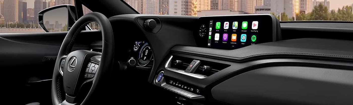 Lexus UX dashboard with Apple CarPlay interface