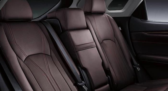 Brown leather seats inside Lexus RX