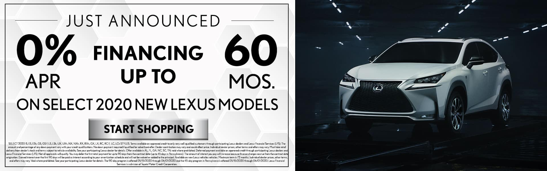 0% Financing for Lexus 2020 Models - May 2020 Finance Offers