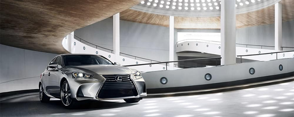 2020 Lexus IS 300 driving up ramp