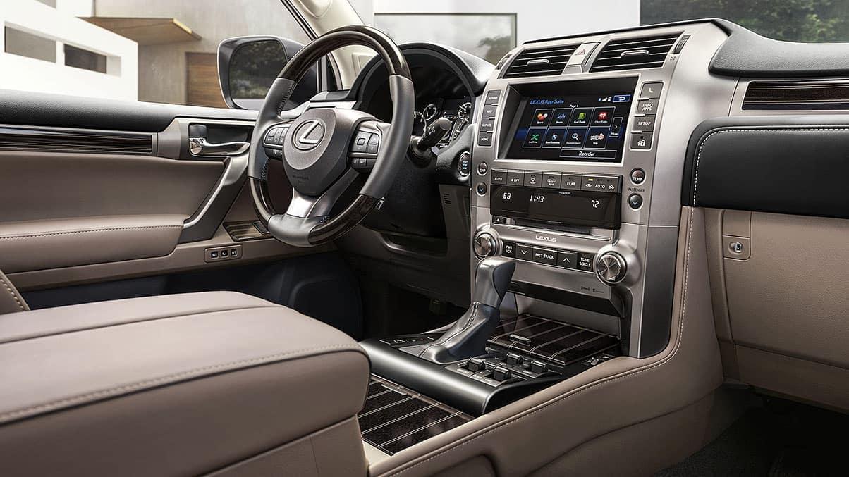 2020 Lexus GX front interior seating