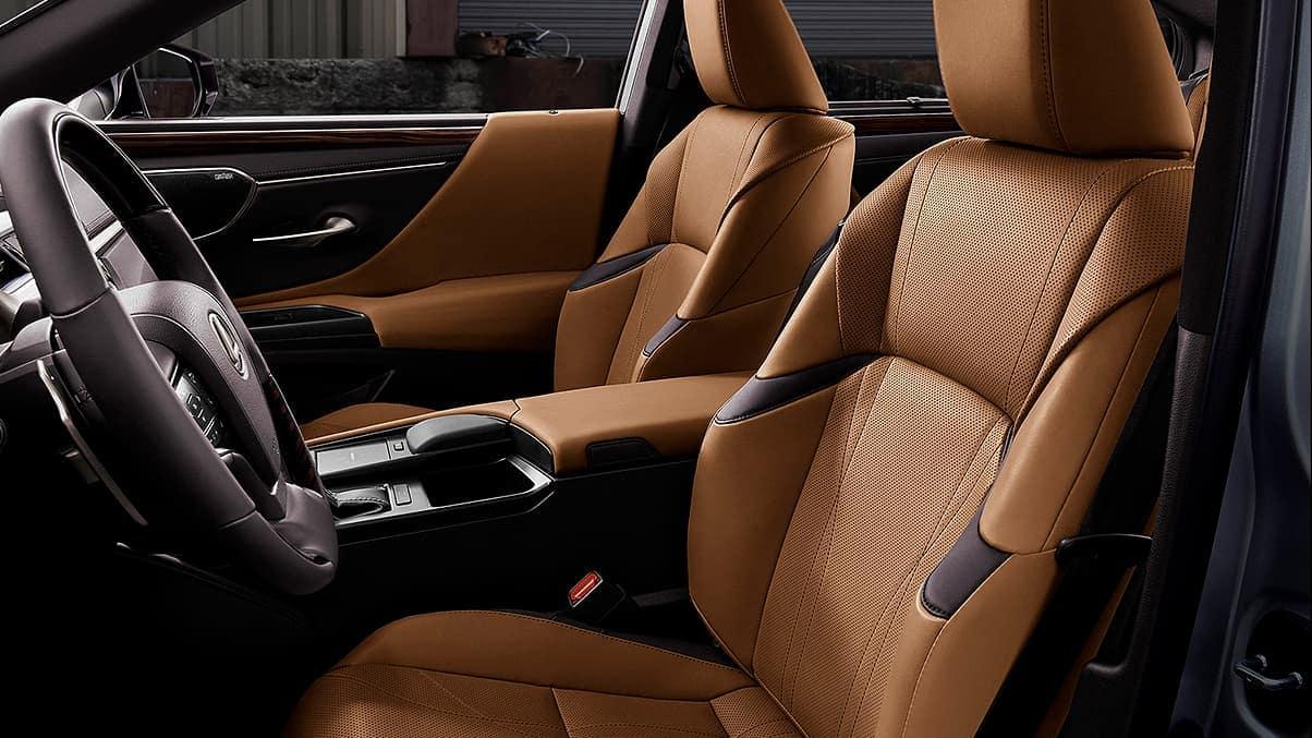 2020 Lexus ES 350 Ultra Luxury leather trim seating