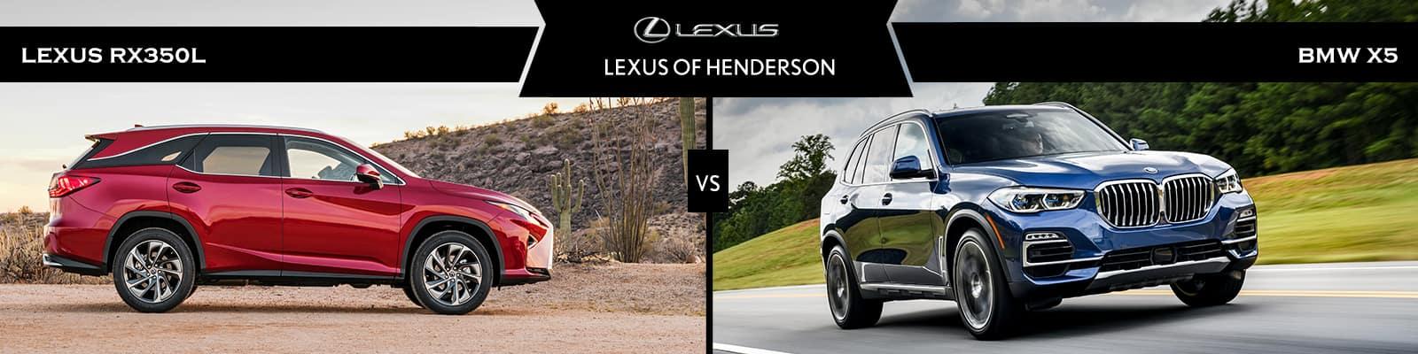 Lexus RX 350L vs BMW X5