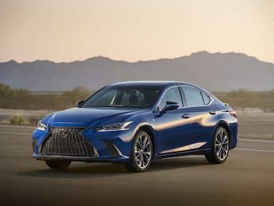 2021 Lexus ES F-Sport Desert front 3/4 view
