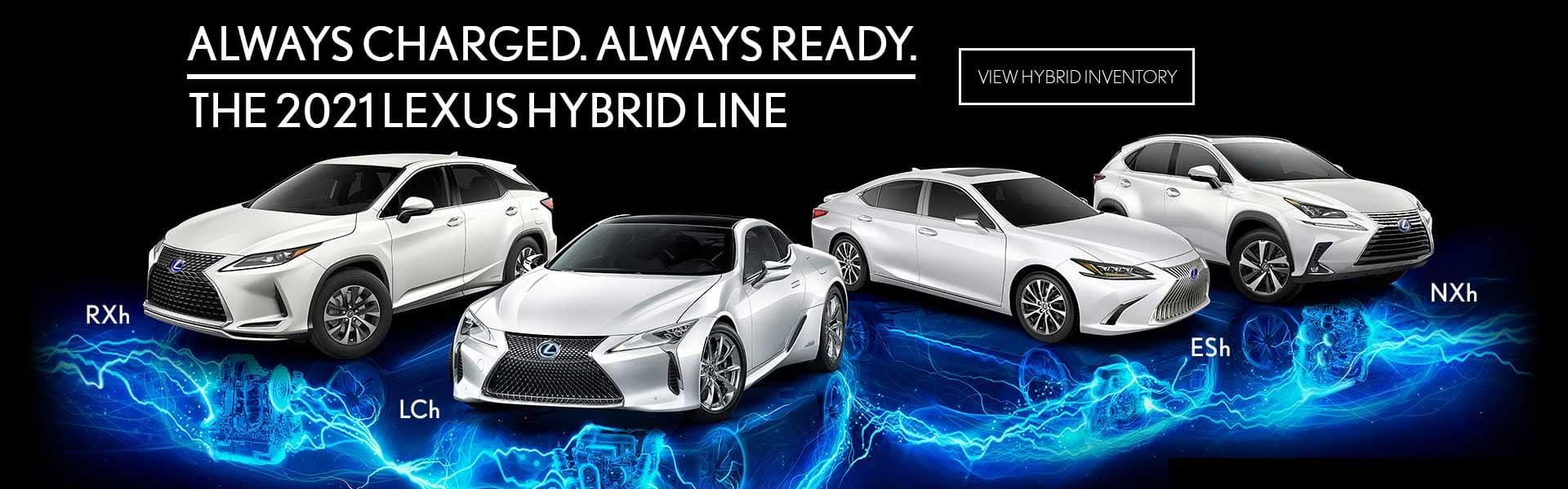 Lexus Hybrid Model Range RXh LCh, ESh NXh