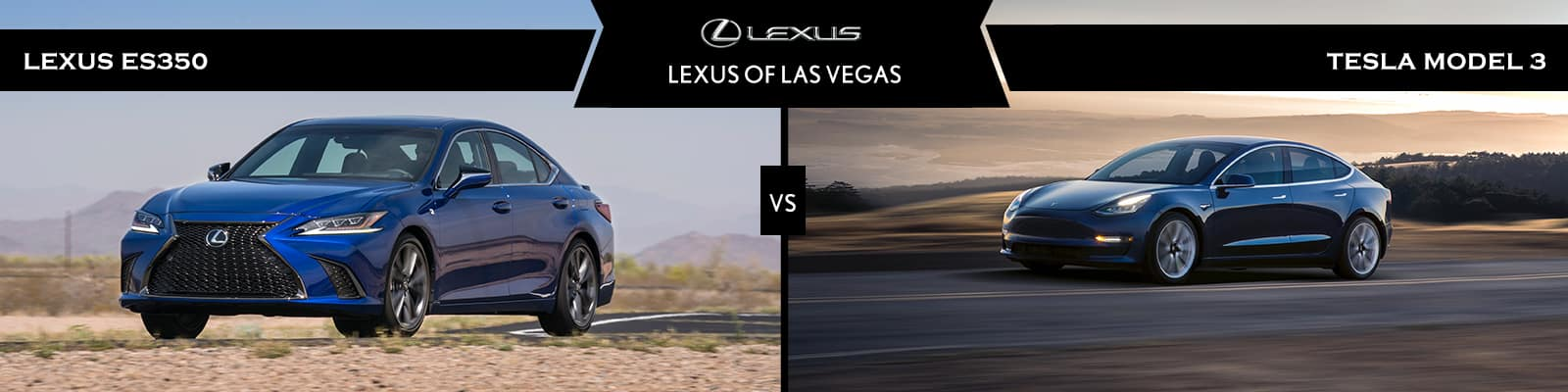 Lexus ES vs Tesla Model 3