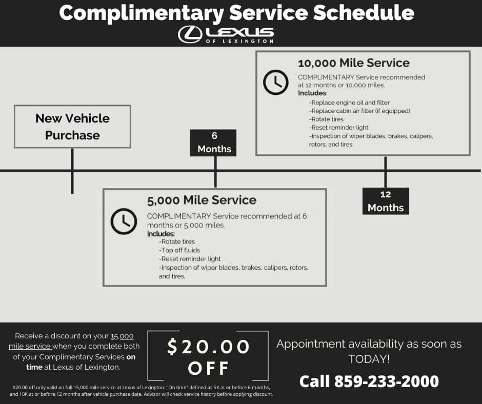 Complimentary Lexus Service Lexington KY