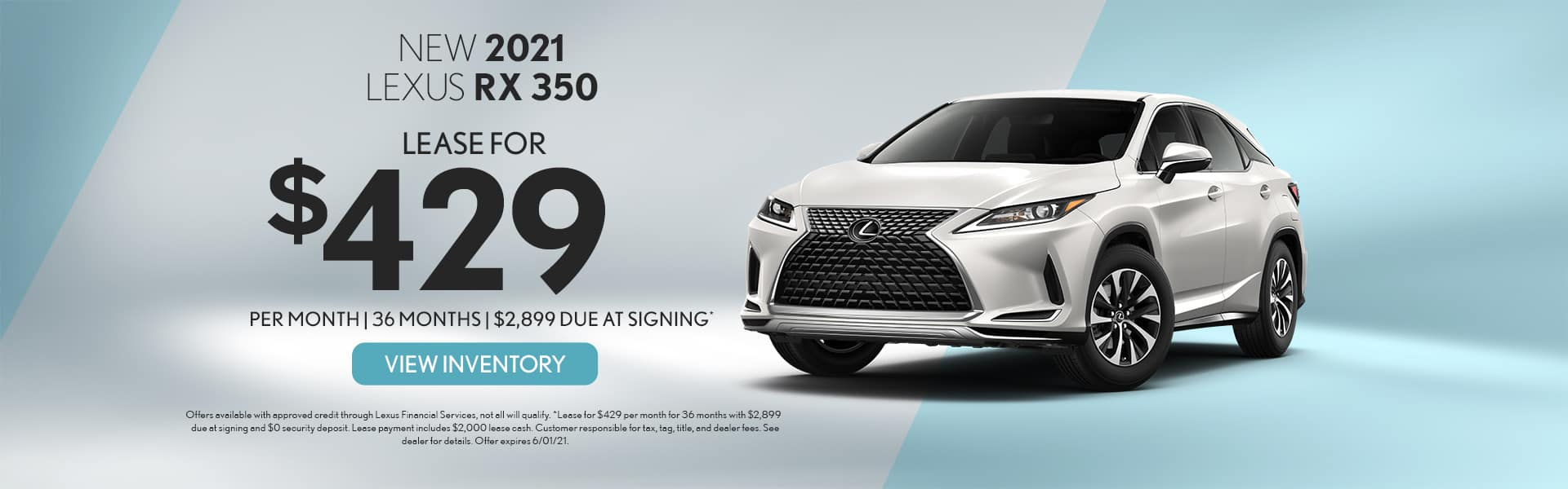 2021 Lexus RX350 for lease in Mobile, AL