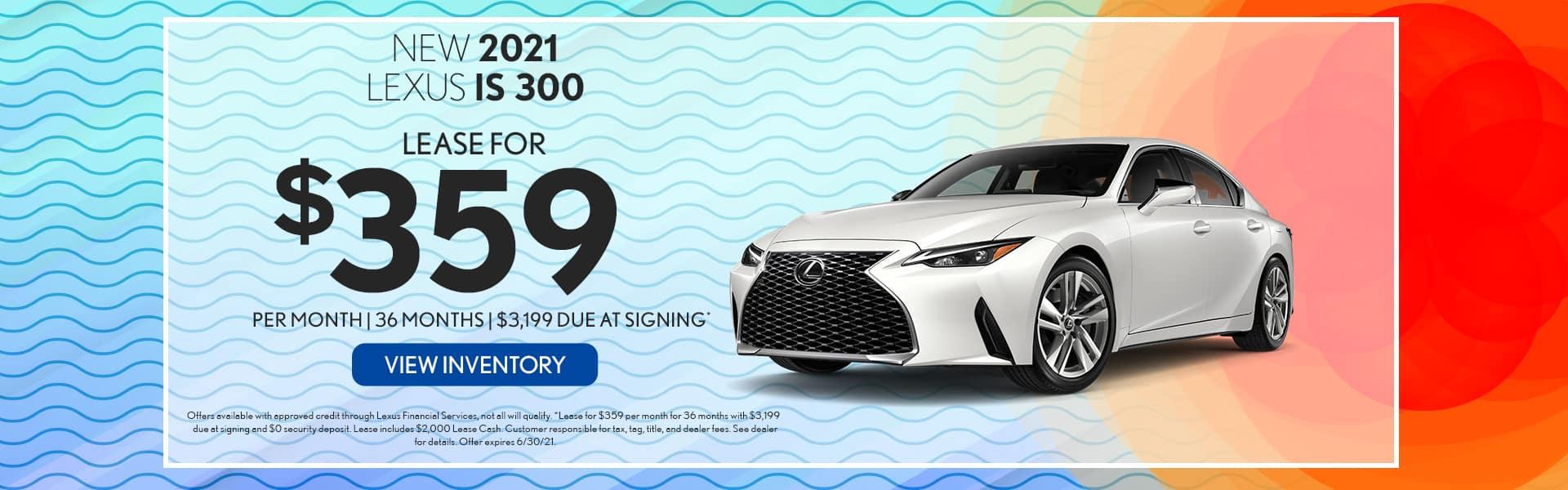 2021 Lexus IS 300 for lease in Mobile, AL