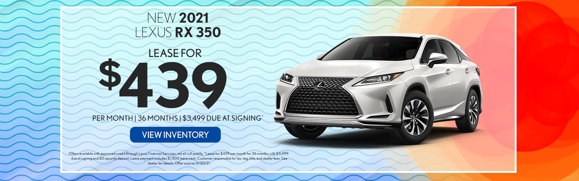 2021 Lexus RX 350 for lease in Mobile, AL