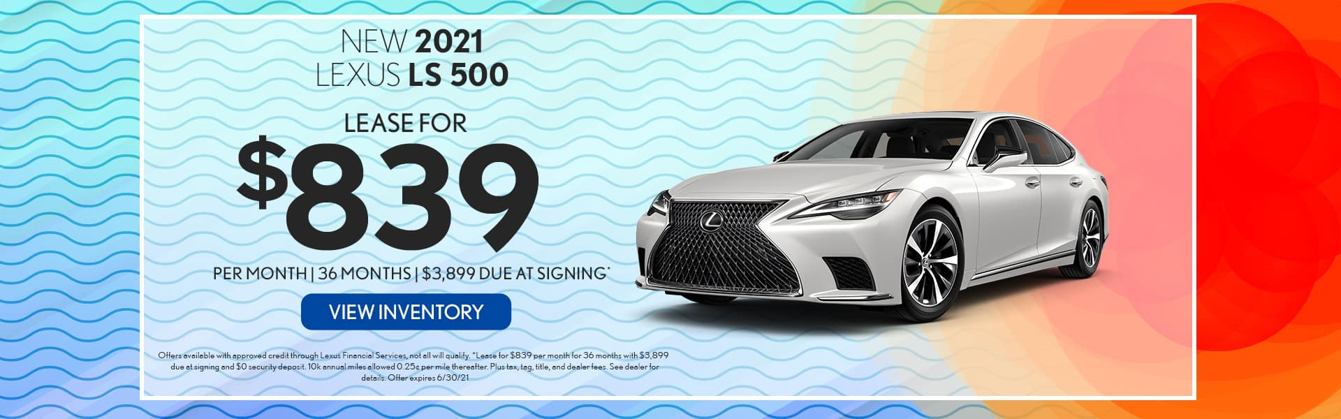 2021 Lexus LS 500 for lease in Mobile, AL