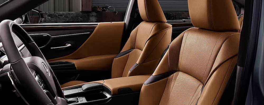 2020 Lexus ES interior front seats leather