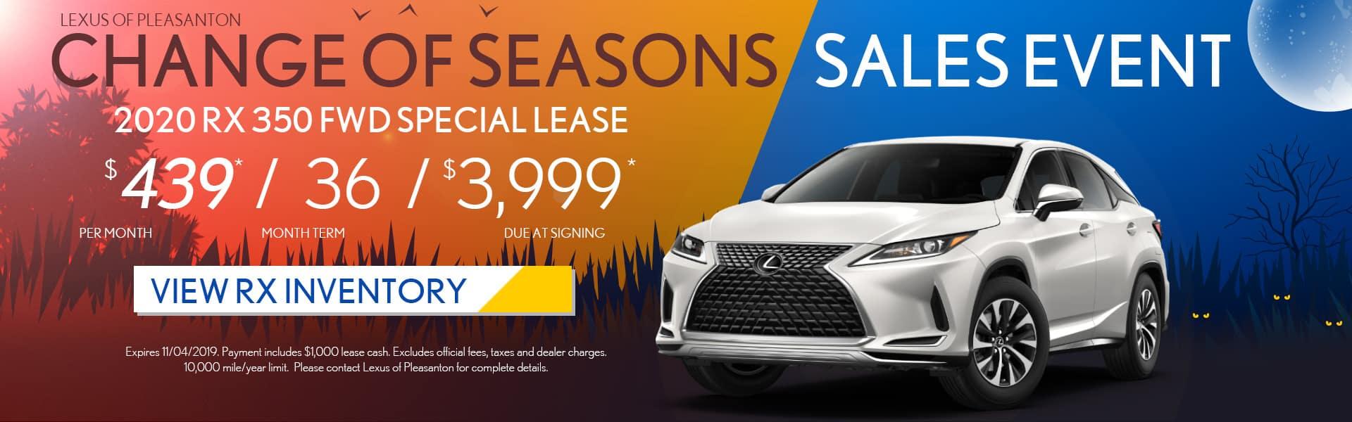Lexus of Pleasanton 2020 RX350 Special Lease