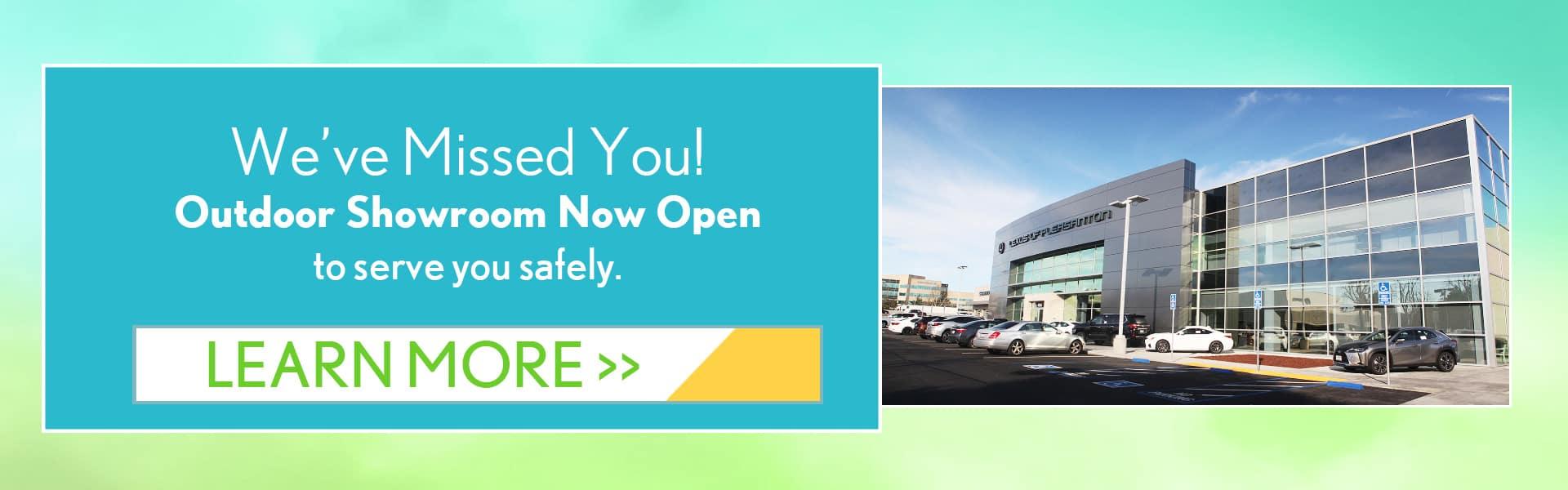 we missed you outdoor showroom is now open