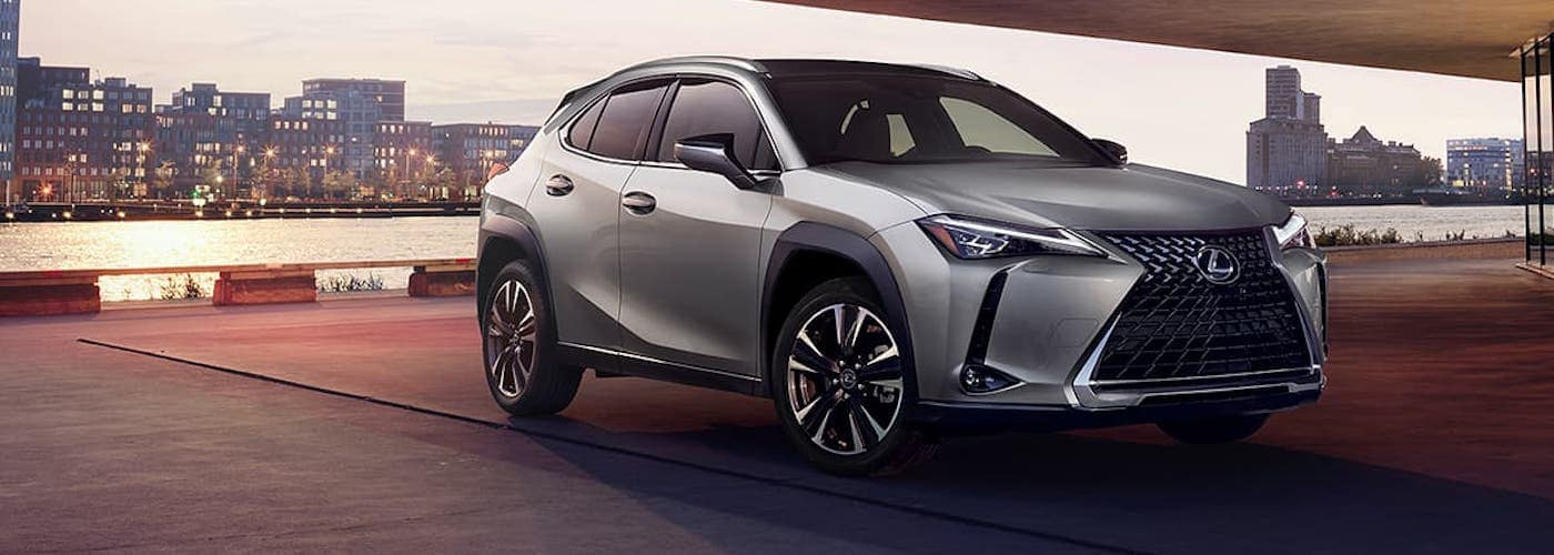 2020 lexus ux silver silver exterior parked outside