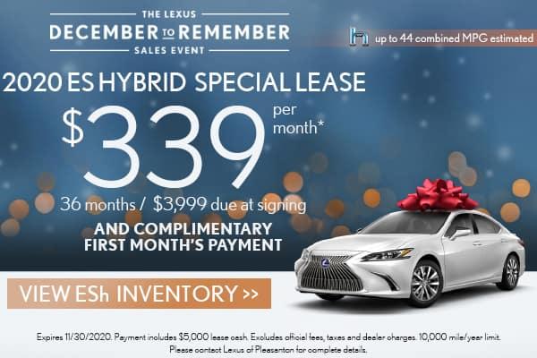 2020 ES Hybrid December to Remember Special Lease