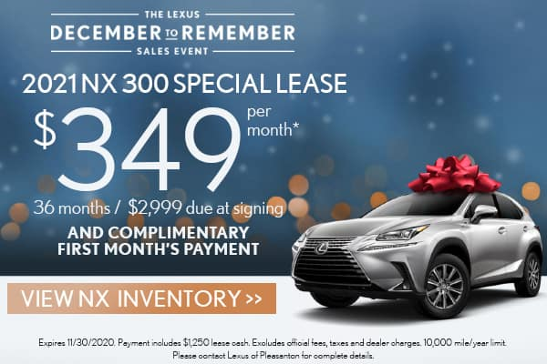 2021 NX 300 FWD December to Remember Special Lease