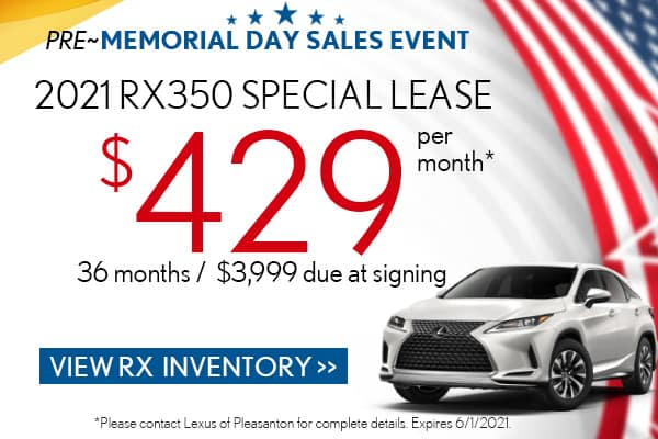 2021 RX 350 Special Lease