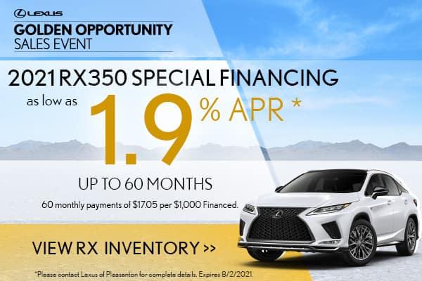 2021 RX350 Special APR