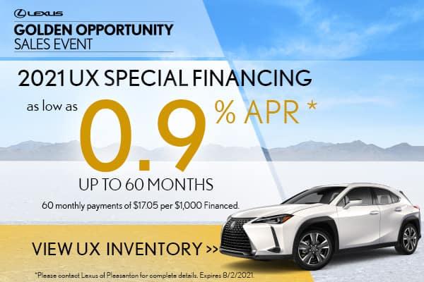 2021 UX Special APR