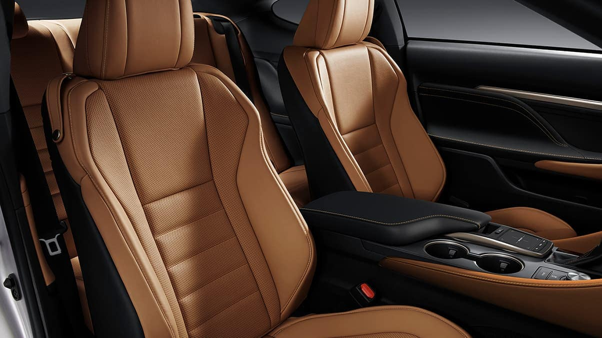 2019 Lexus RC caramel interior
