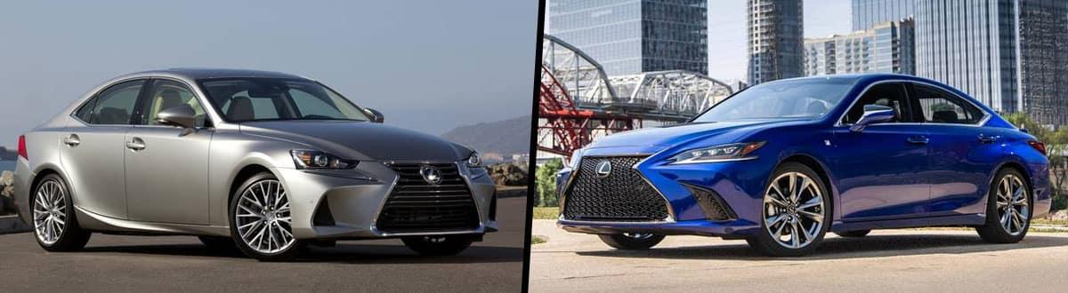 2019 Lexus IS 300 vs 2019 Lexus ES 350