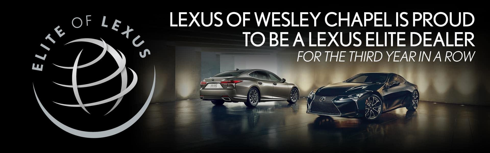 Lexus of Wesley Chapel is Proud to Be a Lexus Elite Dealer