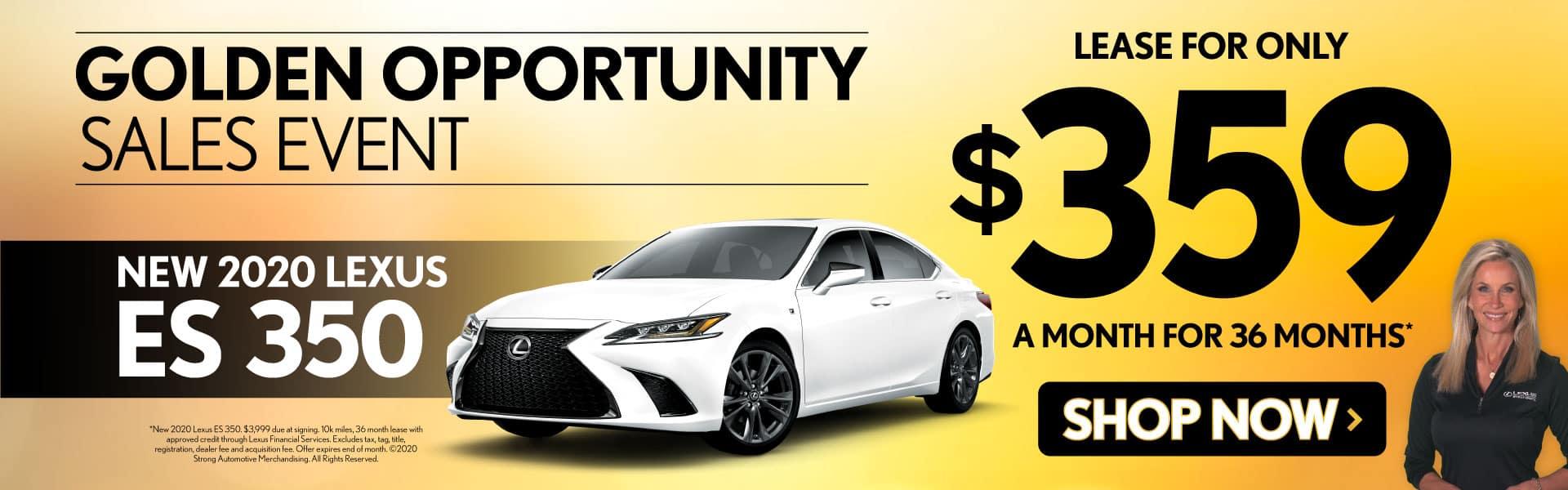 New 2020 Lexus ES 350 only $359/mo - Shop Now