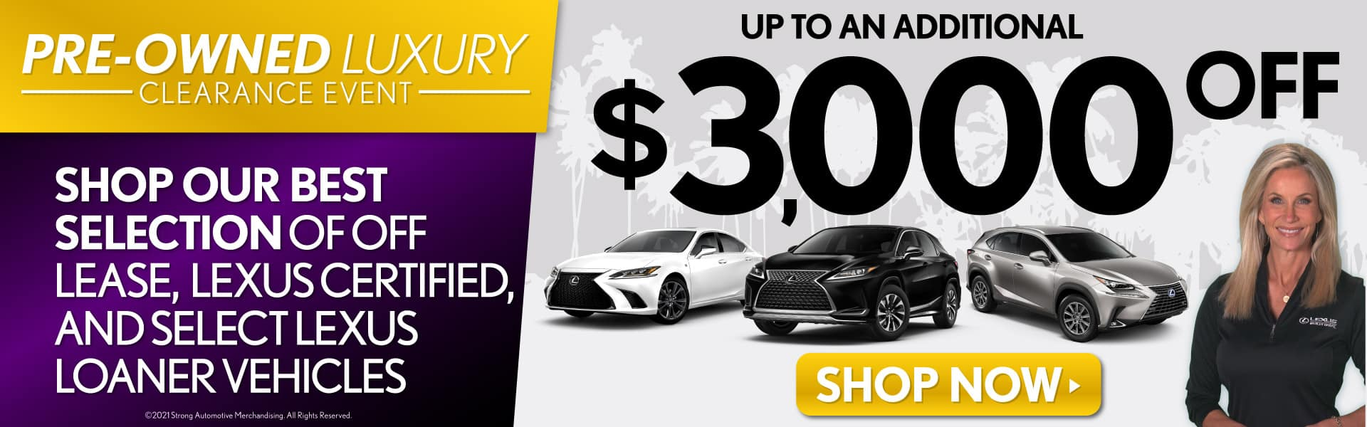 Shop Our Best Selection of Off Lease, CPO, and Loaner Vehicles | Up to an additional $3,000 off | Shop Now