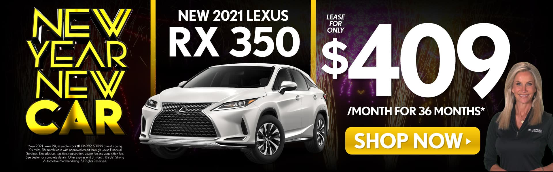 New 2021 Lexus RX 350 | Lease for Only $409 a month | Shop Now