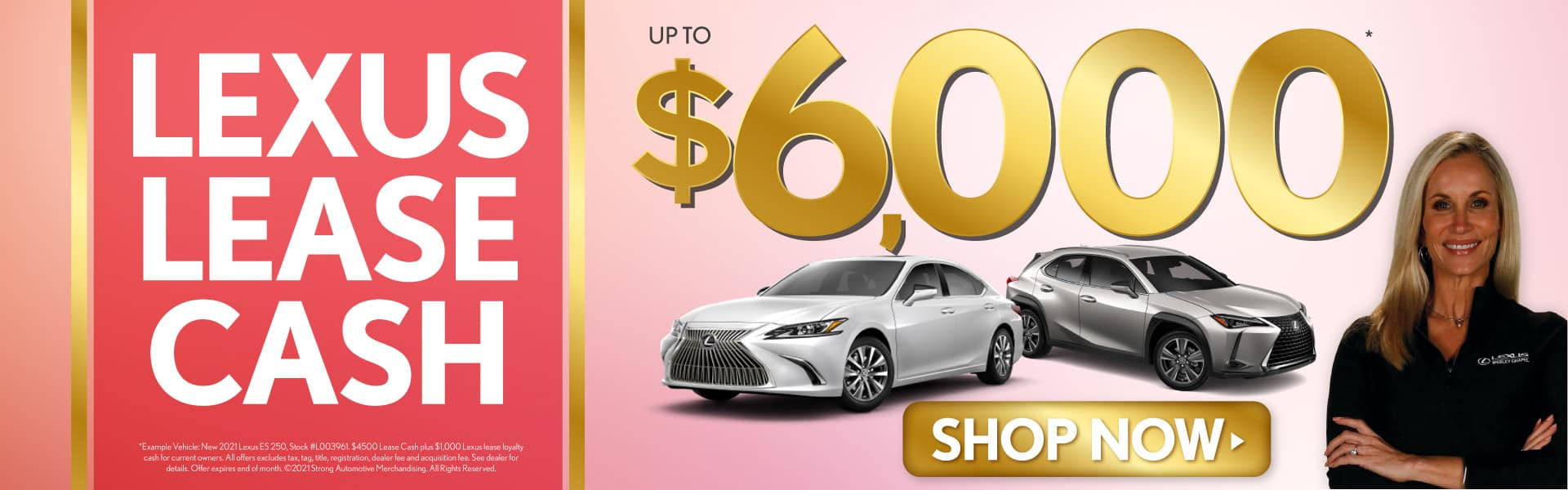 Lexus Lease Cash up to $6000 - SHOP NOW