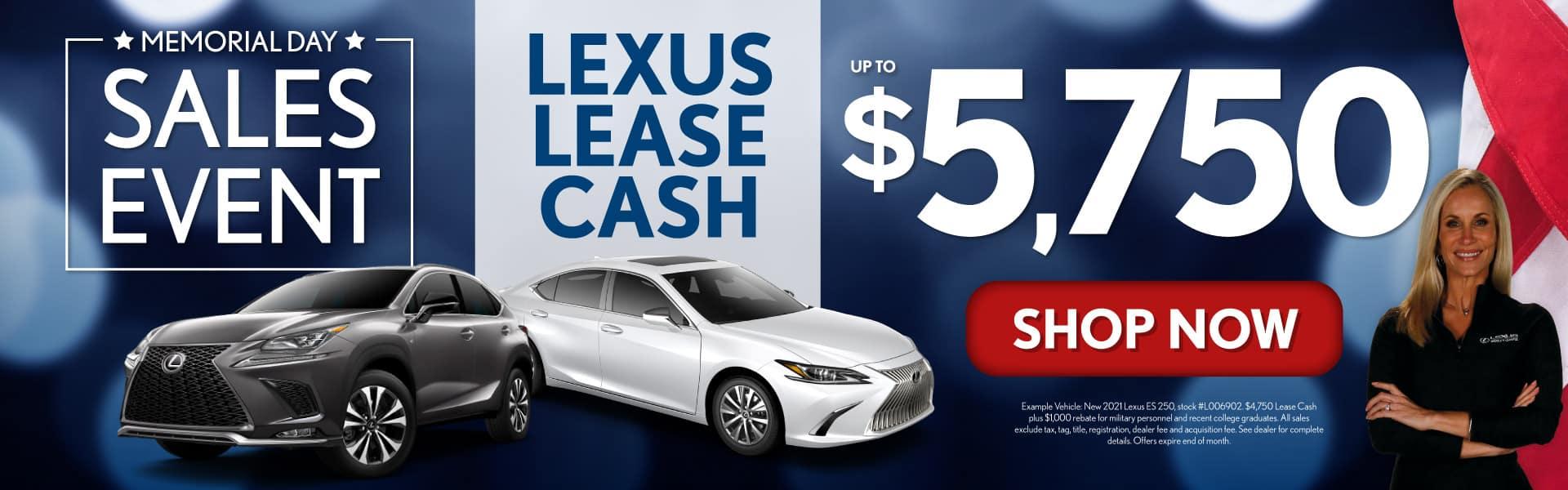 Get up to $5,750 Lexus Lease Cash - SHOP NOW