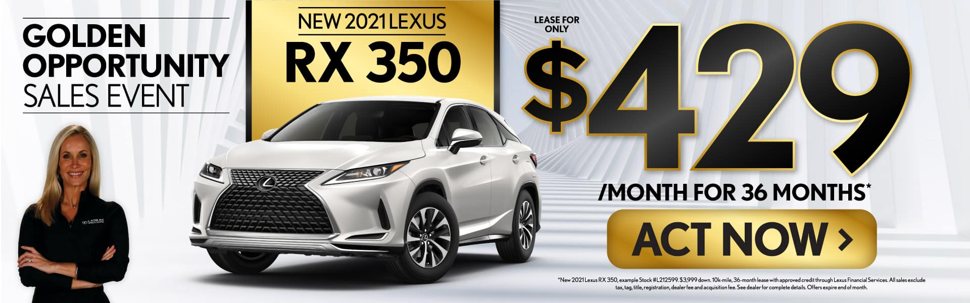 New 2021 Lexus RX 350 only $429/mo - ACT NOW