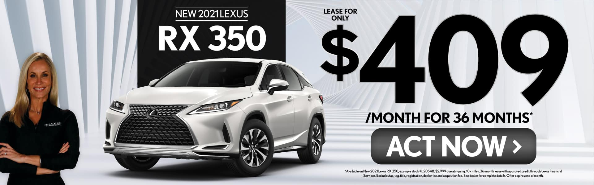 New 2021 Lexus RX 350 only $409/mo - ACT NOW