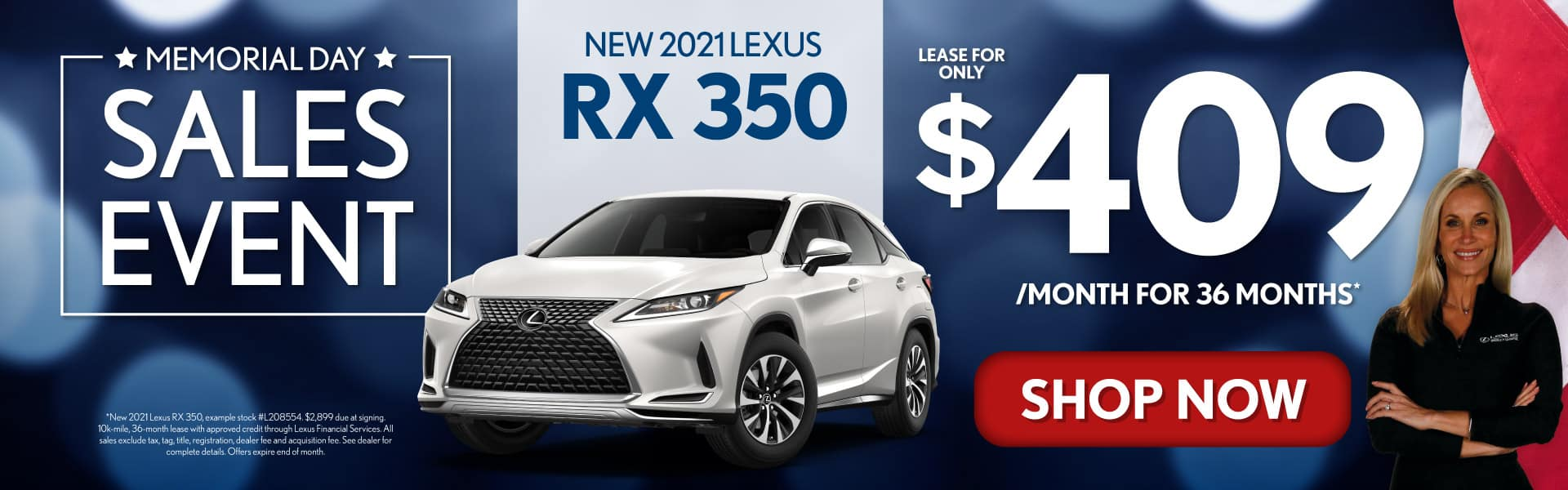 New 2021 Lexus RX 350 only $409/mo - SHOP NOW