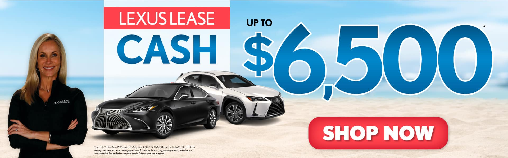 Lexus Lease Cash up to $6500 - ACT NOW