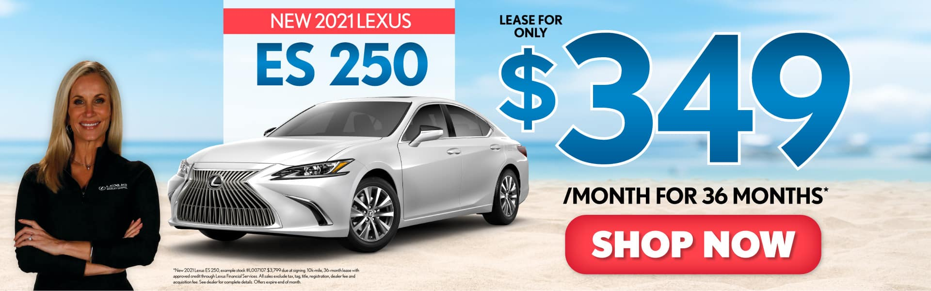 New 2021 Lexus ES 250 only $349/mo - ACT NOW