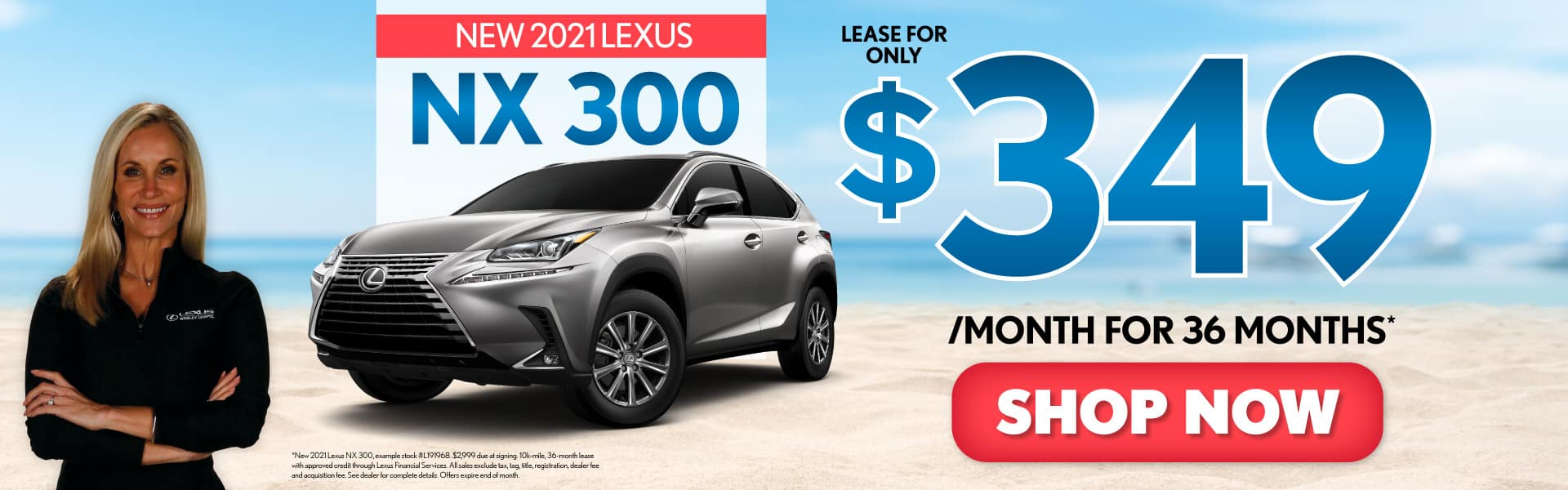 New 2021 Lexus NX 300 only $349/mo - ACT NOW