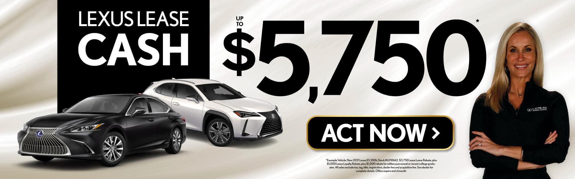 Lexus Lease Cash up to $5,750 - ACT NOW