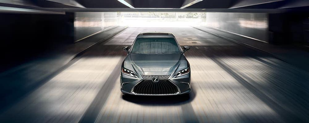 2020 Lexus ES 350 driving through a tunnel