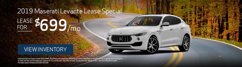 2019 Maserati Levante Lease Special