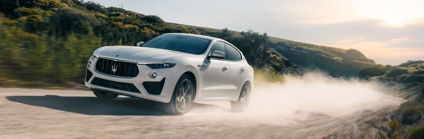 2020 Maserati Levante Driving on a Dirt Road