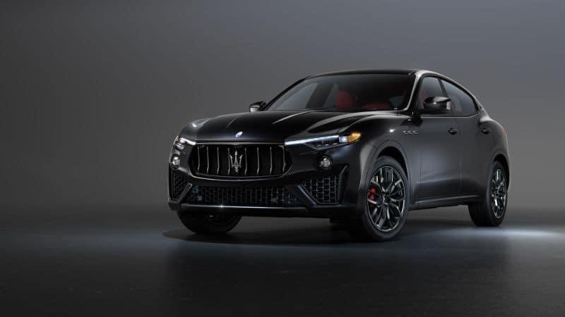 A 2020 Maserati Levante parked in a studio