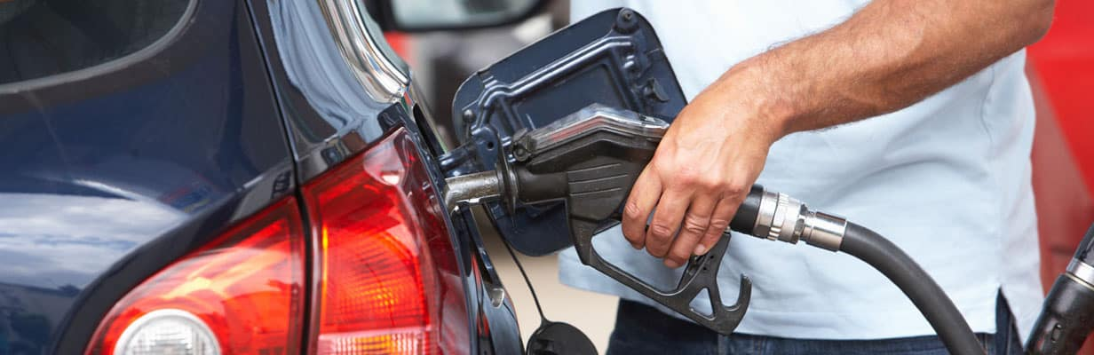 Gas pump within car