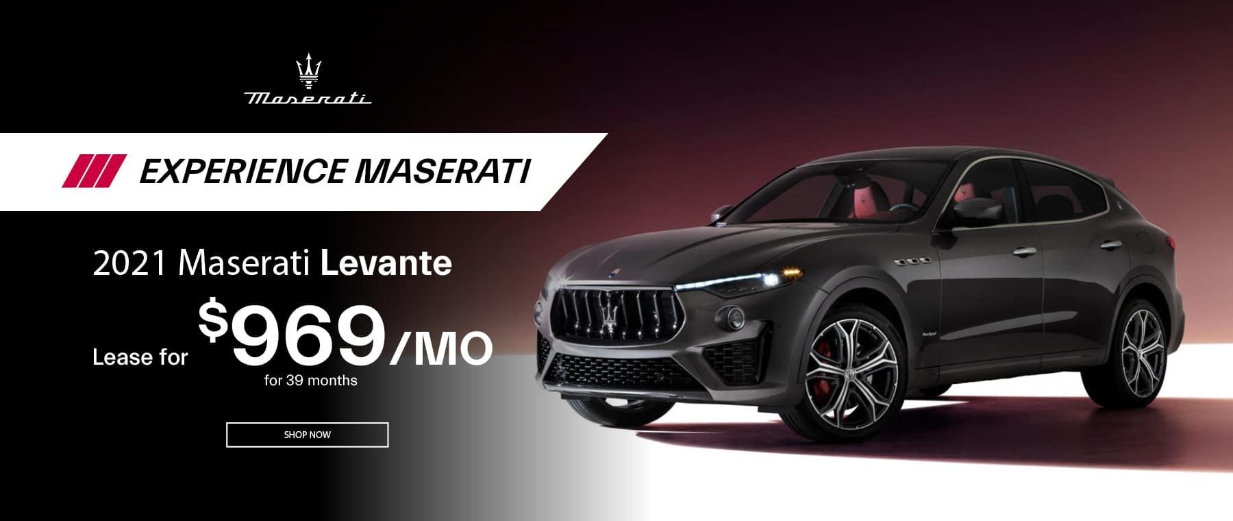 Dafrk grey 2021 Maserati Levante special offer