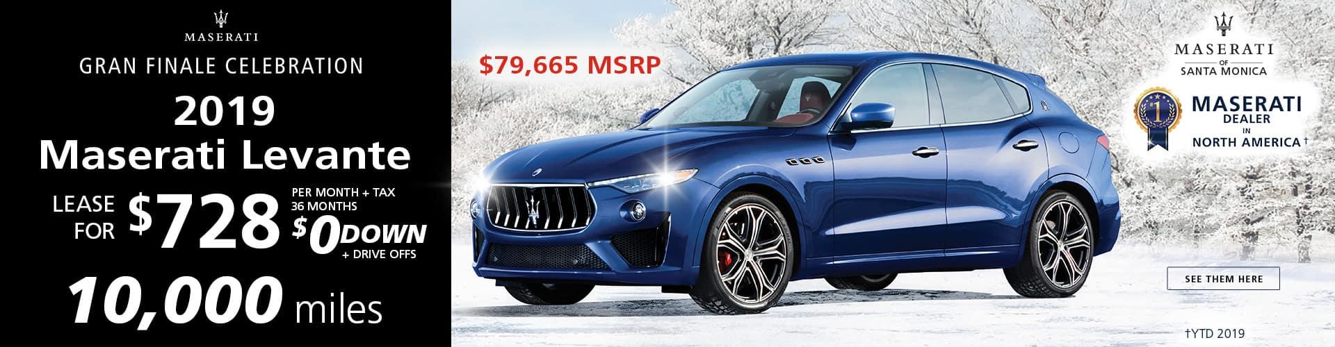 2019 Maserati Levante Special Offer
