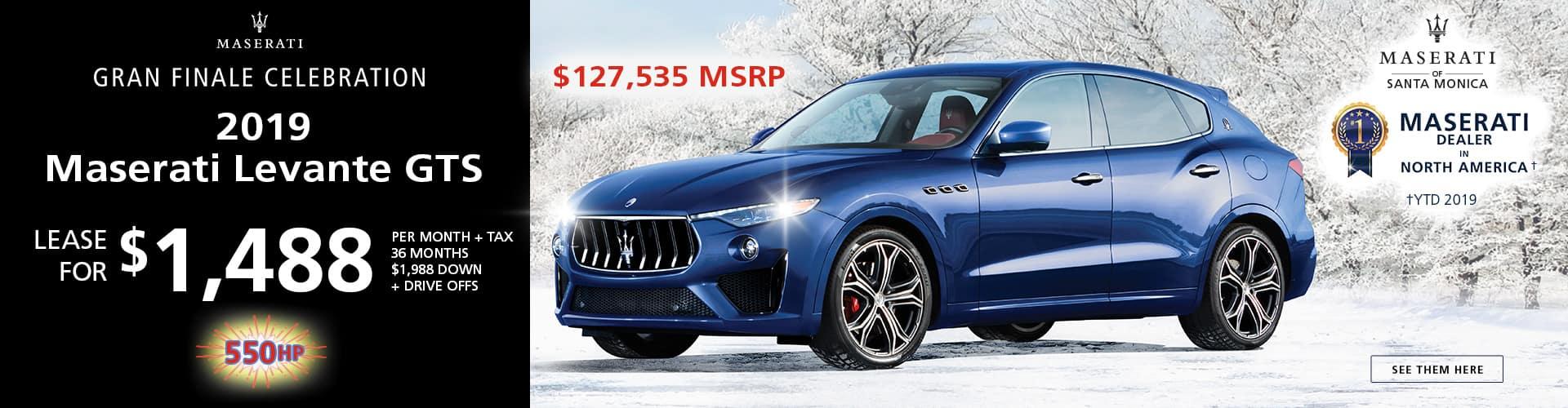 2019 Maserati Levante GTS Special Offer