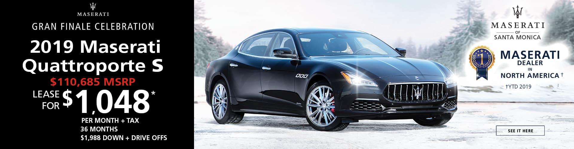 2019 Maserati Quattroporte S Special Offer