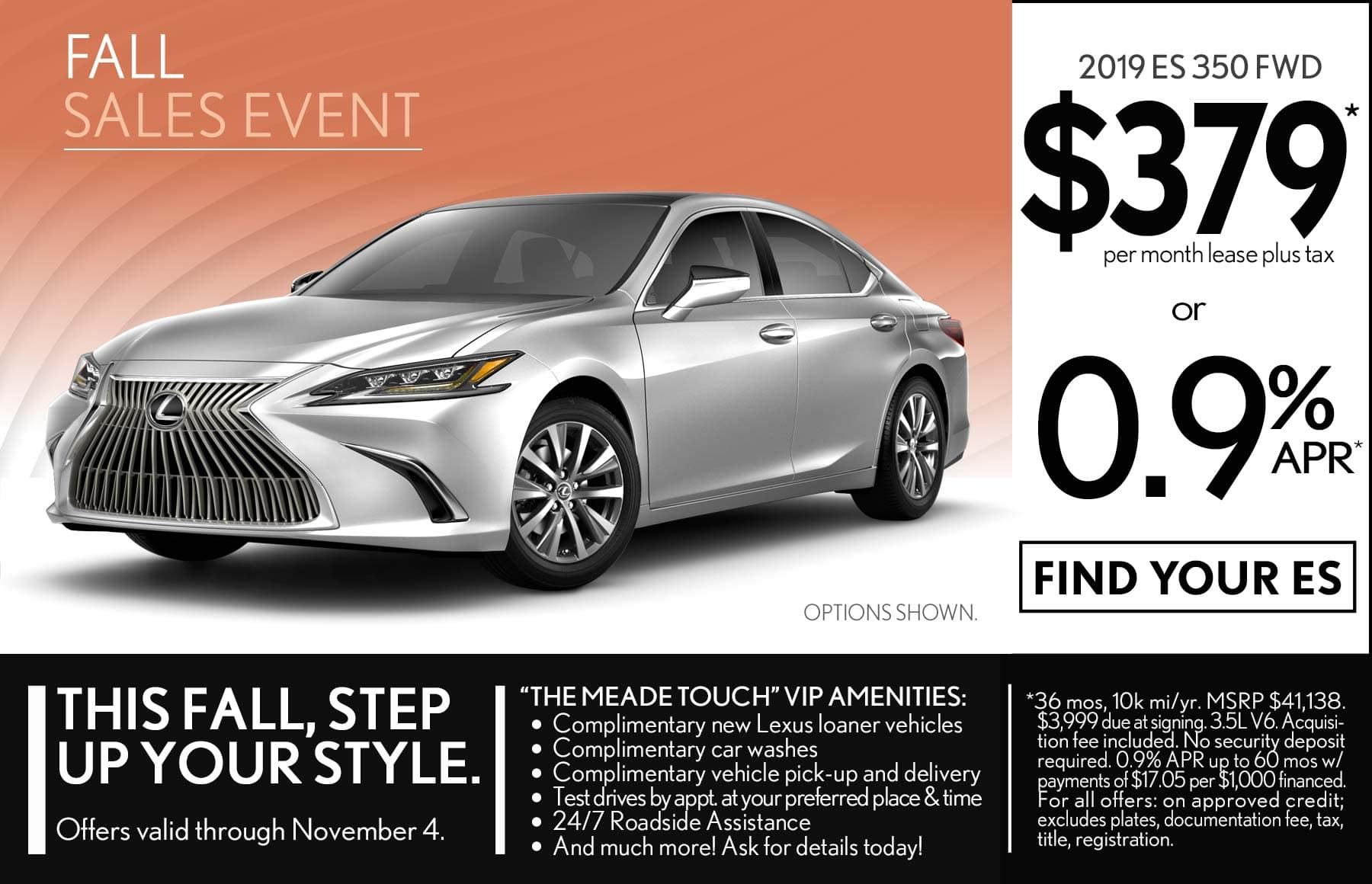 Lexus Lease Offers >> Dealer Specials Meade Lexus Of Lakeside