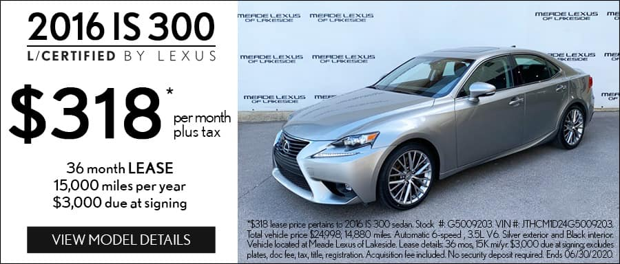 Certified Lexus Lease